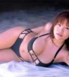 Yoko matsugane  the nice and busty yoko matsugane posing in black bikini. The good and busty Yoko Matsugane posing in black bikini