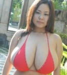 Busty asian fuko hard japanese breasts.