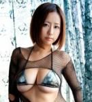 Japanese busty model hitomi kitamura posing.