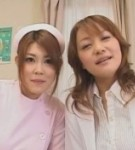 Mei kobayashi and chichi asada in a double titty make love action also make loveing and blowing.