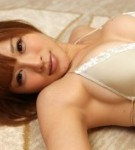 Busty asian yuu tejima skinny anatomy posing in lingerie.