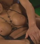 Horny tanned moka fuck several guys with her huge tits.