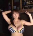 Harada orei posing in bikini.