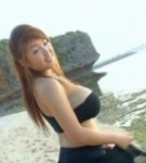 Harada orei  harada orei in a black dress walking near the water posing her huge tits. Harada Orei in a black dress walking near the water posing her huge breasts